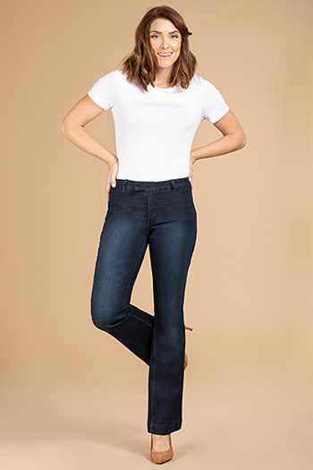 Women Back Pocket Wide-Leg Trouser