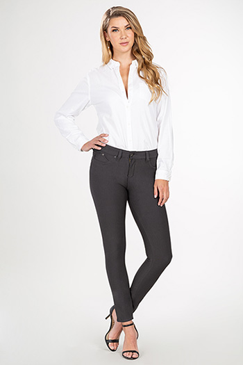 Women WannaBettaButt Ponte Mid-Rise Skinny with Triple Side Darts