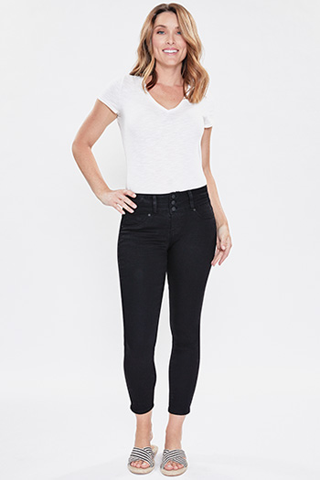 Women 3-Button Denim Skinny Jean