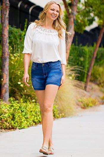 Women Super Soft Jean Shorts