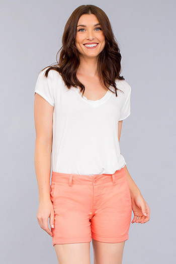 Women Chino Rolled Cuff Short
