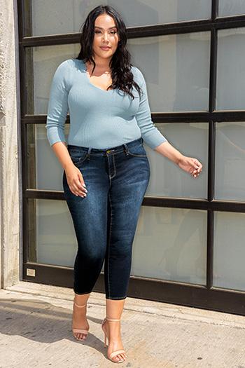 Women Plus Size Anklet with Side Leg Zipper