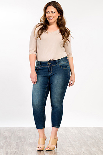 Plus Size Women WannaBettaButt Wide Waist Flood