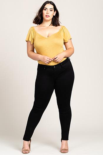 Women Plus Size Basic Skinny Jean