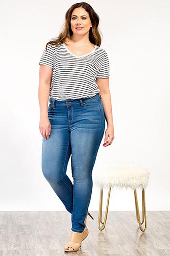 Plus Size Women WannaBettaButt Super Soft Skinny Jean