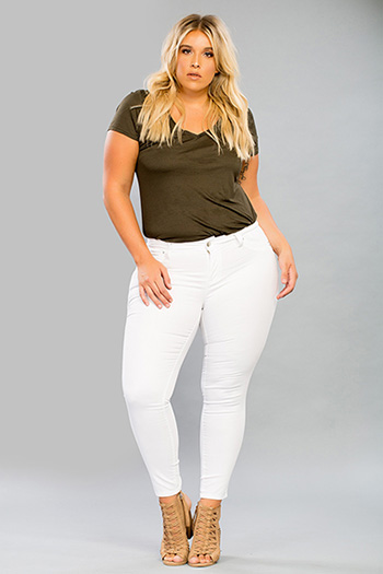 Plus Size Women WannaBettaButt Super Soft Skinny Jean