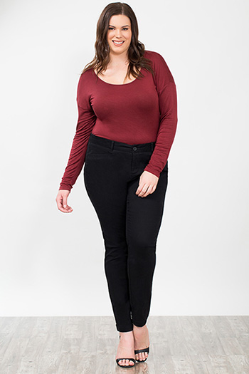 Plus Size Women Twill Trousers