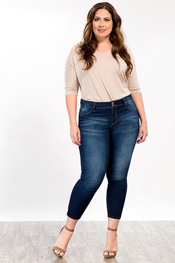 Women Plus Size WannaBettaButt Cuffed Jeans