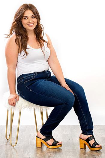 Plus Size Women WannaBettaButt Midrise Skinny Jean