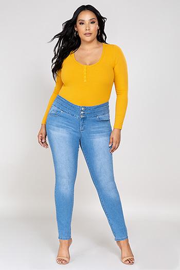 Women Plus Size WannaBettaShape Mid-Rise Jean