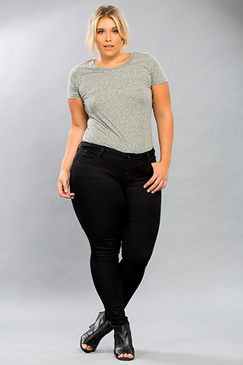 Women Plus Size WannaBettaButt Skinny with Bling Back Pocket