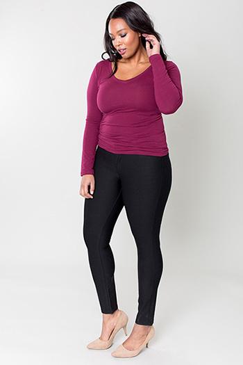 Women Plus Size WannaBettaButt Ponte Mid-Rise Skinny