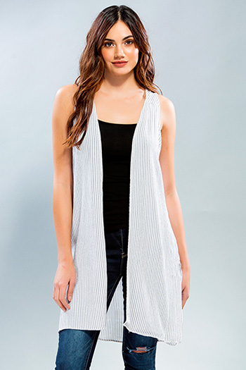 Junior Striped Long Tank Vest